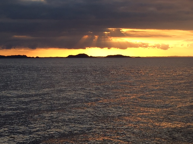 Sunset on the Hauraki Gulf
